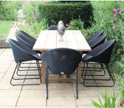 Tuscan 320cm Reclaimed Table with 8 Bellina Chairs