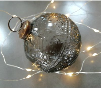 Christmas Bauble (Glass Smoked)