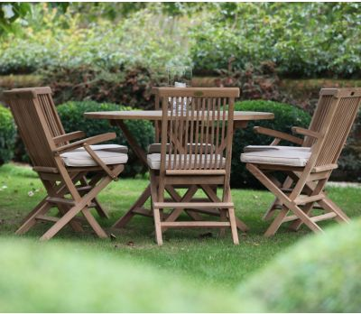 6 Seater Round Bristol Garden Table Set