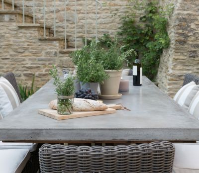 Neptune Hudson Concrete Table 190cm / 240cm