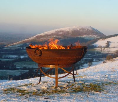 Indian Kadai Fire Bowl 90cm