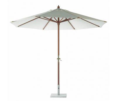 3m Bramblecrest Round Hardwood Garden Parasol