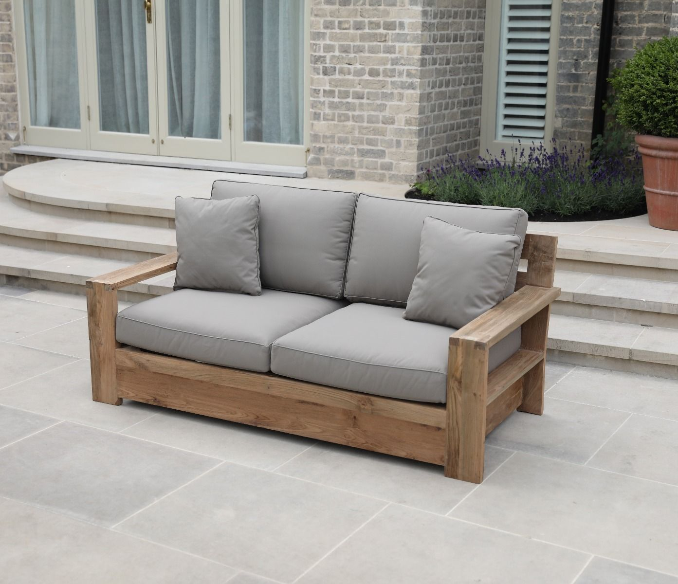 Tuscan Reclaimed Two Seater Outdoor Sofa