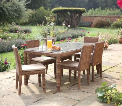 Evelyn six seater table set