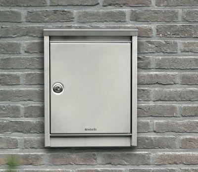 Easy Clean Post Box - Matt Steel