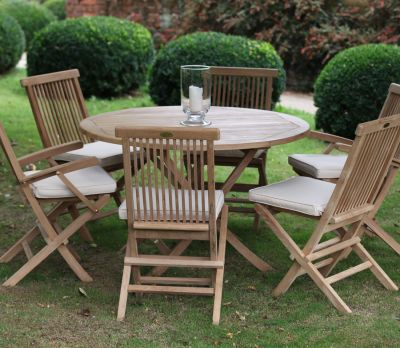 Bristol Round 6-Seater Table Set