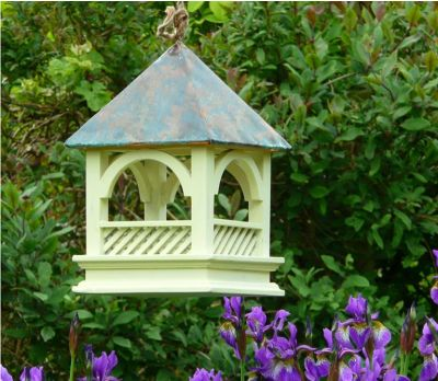 Bird feeder copper roof