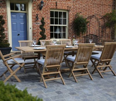 Rectangle Double Extending 8-Seater Table Set